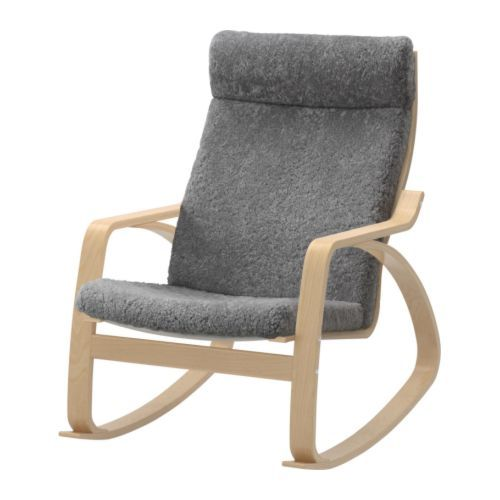 ... our Nursery! POÄNG Rocking chair - Lockarp gray, birch veneer - IKEA
