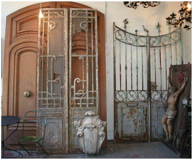 Iron gates antique wrought