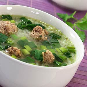 Escarole Soup with Turkey Meatballs | Recipe