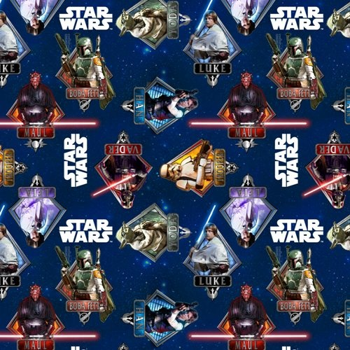 Blue star wars fabric kid clothes pinterest for Star wars fabric