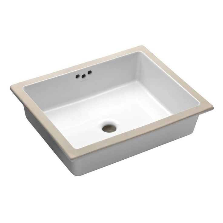 Kohler Undermount Sinks : KOHLER Kathryn Undermount Bathroom Sink in White-K-2330-0 at The Home ...