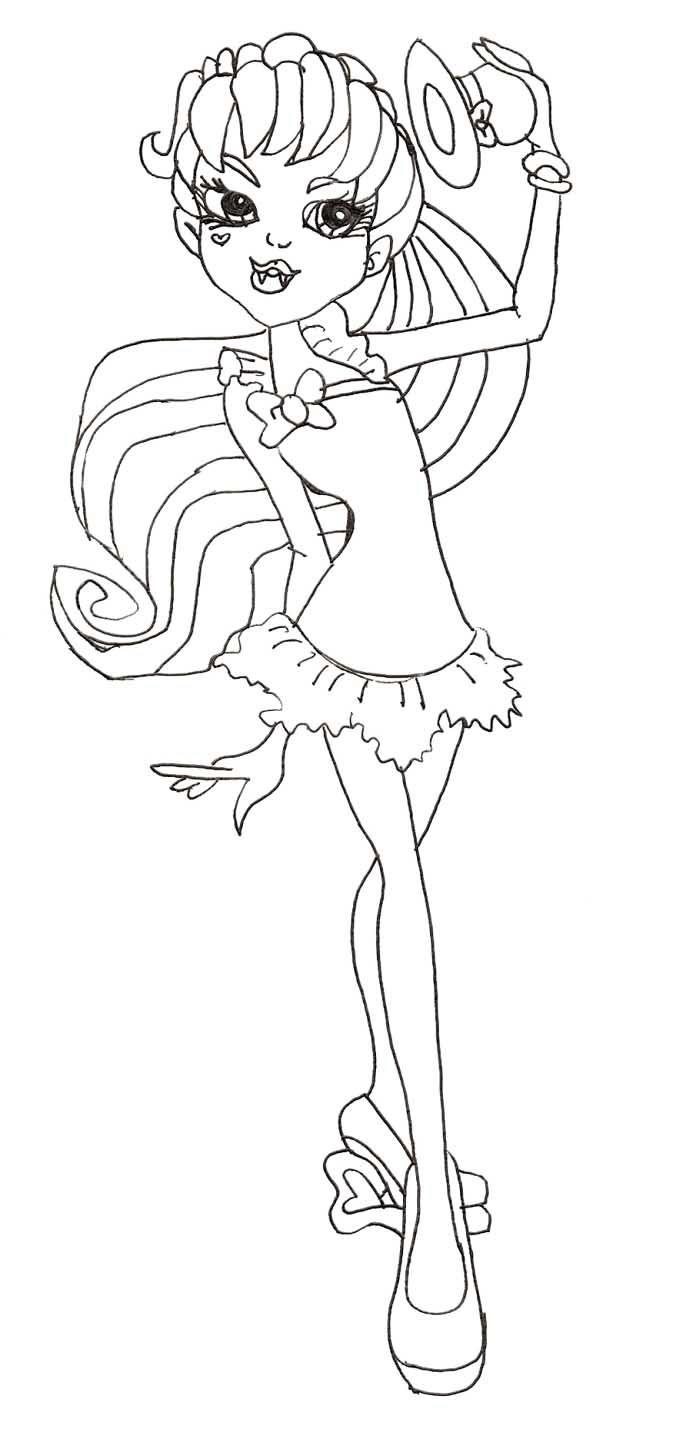 Draculaura sweet 1600 coloring pages coloring pages for Draculaura coloring page