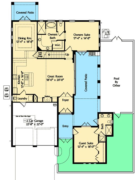Plans with casitas casita home plans house design ideas for House plans with separate guest house