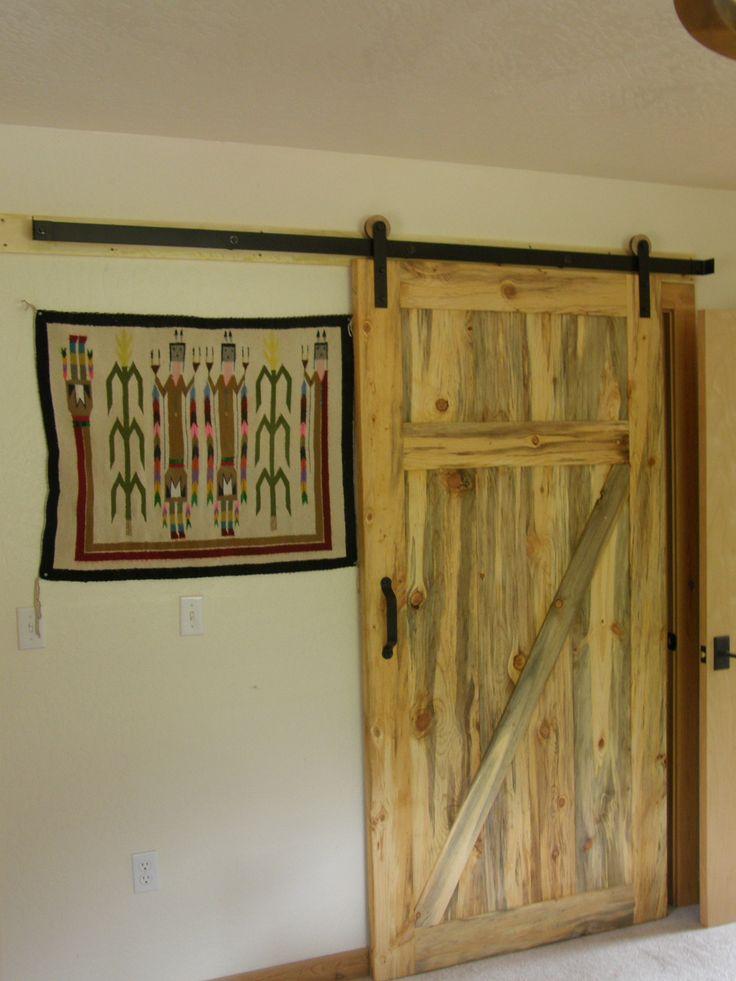 Barn door style closet door modern rustic pinterest for Barn door style closet doors