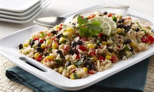 Fiesta Rice with Black Beans, Corn and Peppers | Recipe
