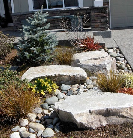 dry river bed landscaping Garden Pinterest