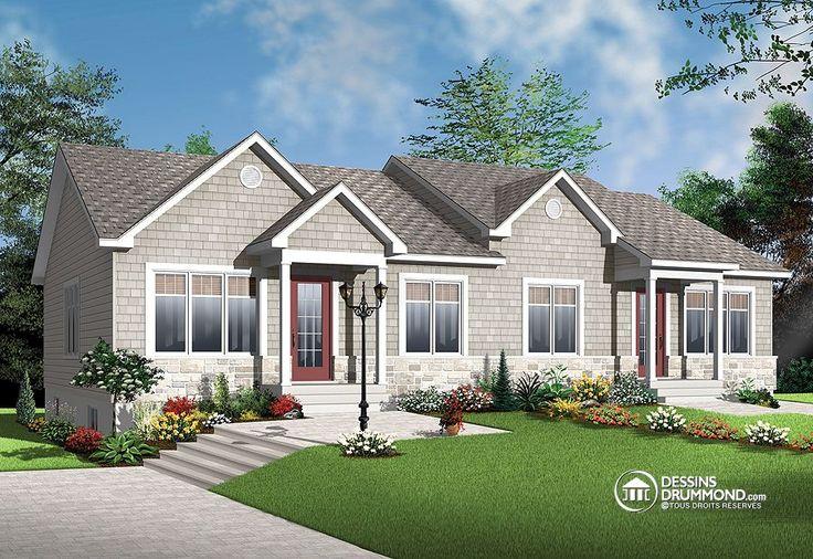 Pin by dessins drummond plan de maison plan de for Detached duplex designs