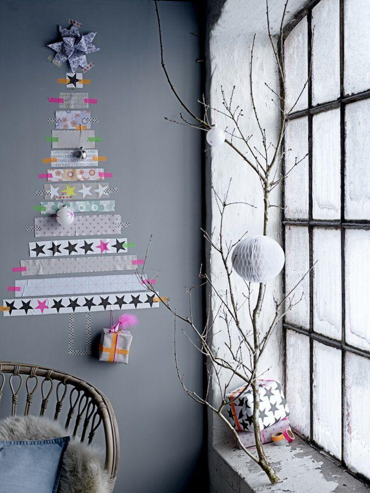 マスキングテープクリスマス壁デコ