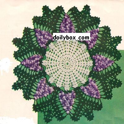 Grape crochet doily pattern free Crochet Pinterest