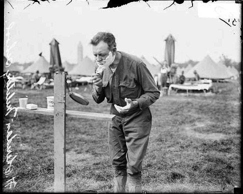 Military Shaving, 1915