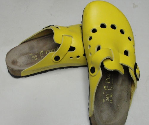 Fun Birkenstock Clogs Golden Yellow