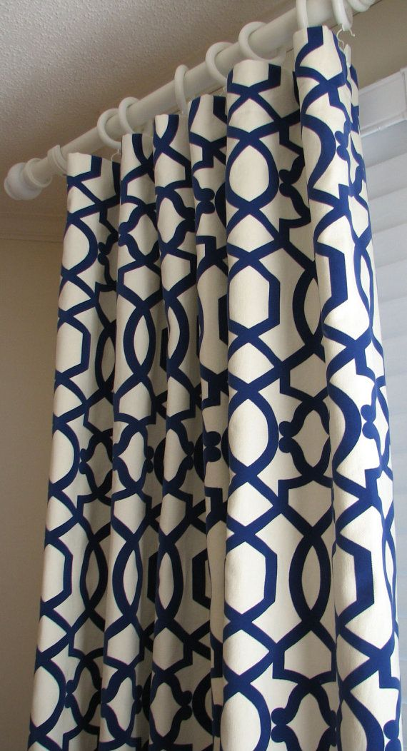 Kmart Curtains And Drapes Black and White Patterned Curt