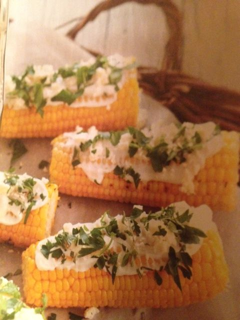 chopped mint, 1/2 c greek yogurt, 1/2 c crumbled feta. Grill corn ...