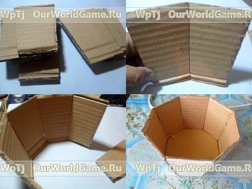 Корзинки из картона своими руками