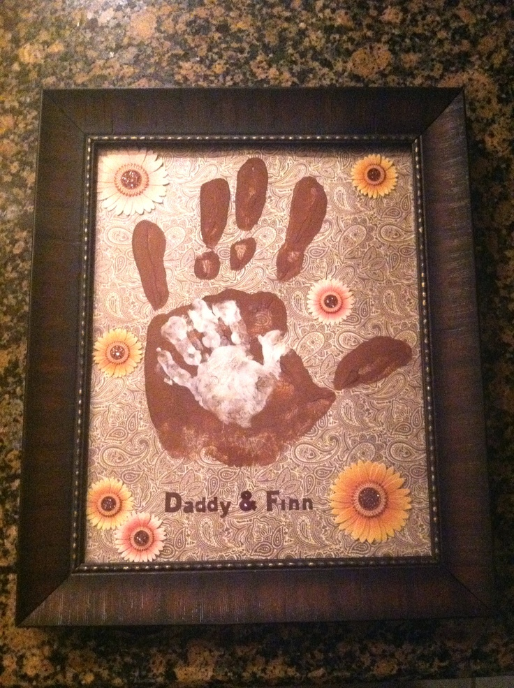 Father's Day craft idea.  We did both a Mommy