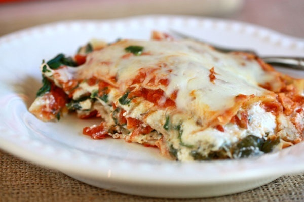 Vegetarian Lasagna with spinach and mushrooms - Ill replace the ...