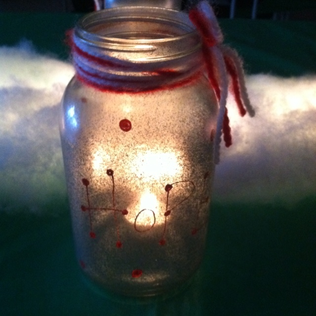 christmas mason jar luminary holidays pinterest