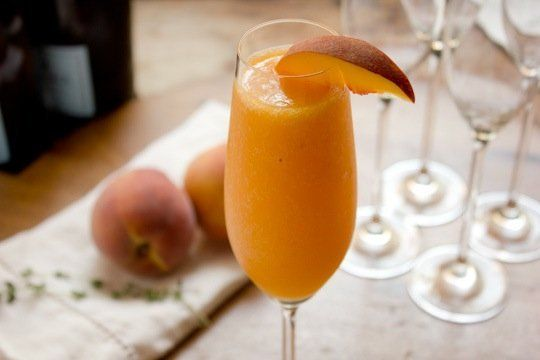 Cocktail Recipe: Peach Thyme Bellini