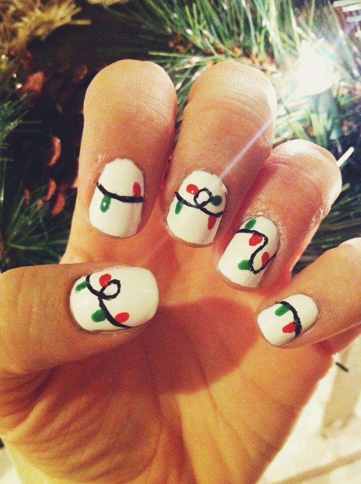 Christmas Light Nails | // My Nail Art // | Pinterest