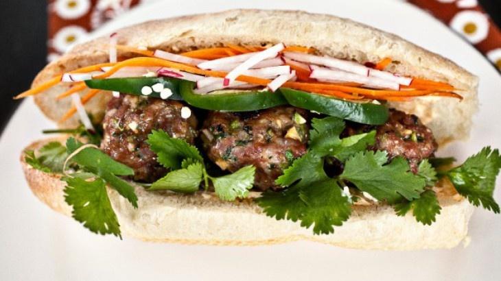 Banh Mi with pork meatballs | Looks good! | Pinterest