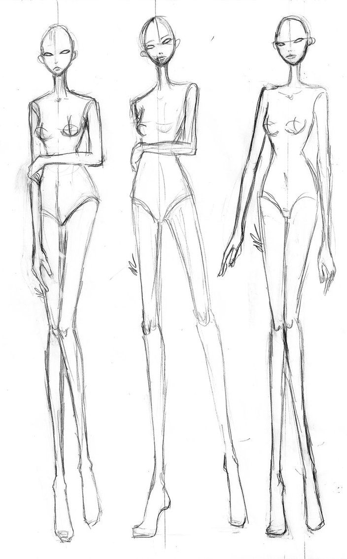 Fashion illustrations poses