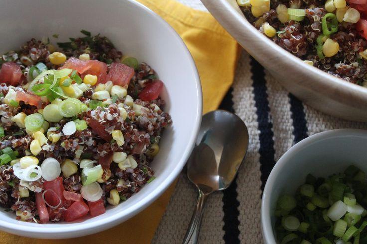 Grilled Corn and Quinoa Salad   Hungrysofia.com   Pinterest
