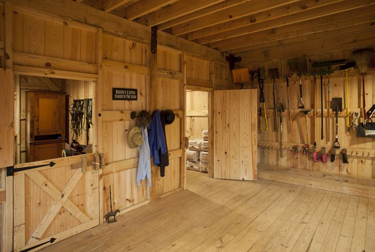 Barns storage area for