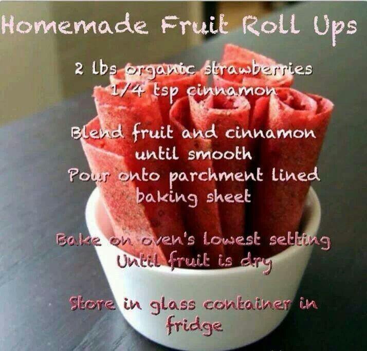 Homemade fruit roll ups. | Homemade fruit roll ups | Pinterest