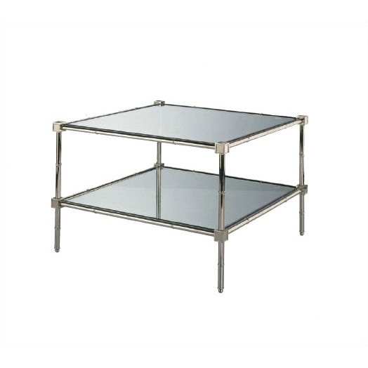 Robert Abbey Jonathan Adler Meurice Glass Coffee Table In Polished