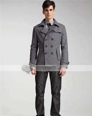 Clothes Button Wool Men Overcoats | Kwible | Pinterest