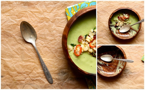 Cold Avocado Soup with Sweet Corn and Bacon Make it vegan! -Swap out ...
