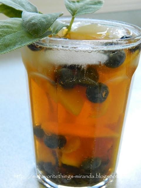 Peach Blueberry Iced Tea   tea   Pinterest