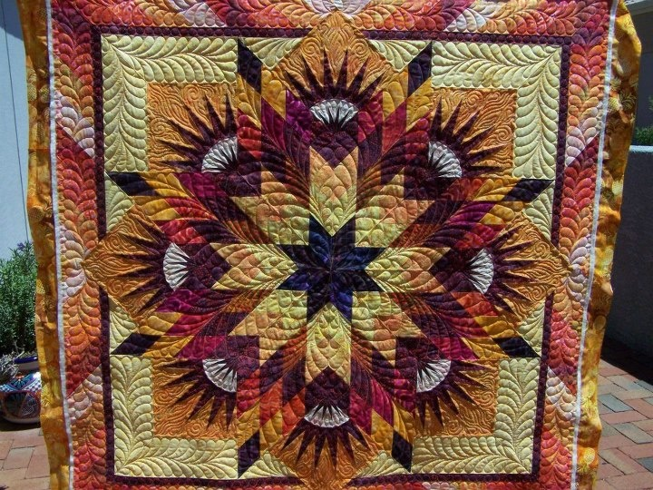 Summer Solstice ~ Quiltworx.com, made by Arlene Albright and Quilted by Sculptured Threads Quilting