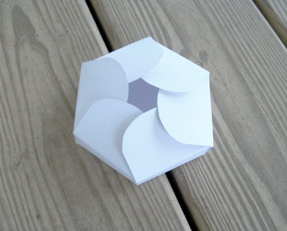 Printable Gift Box Hexagon Petals Wedding Favor Box Template Digital ...
