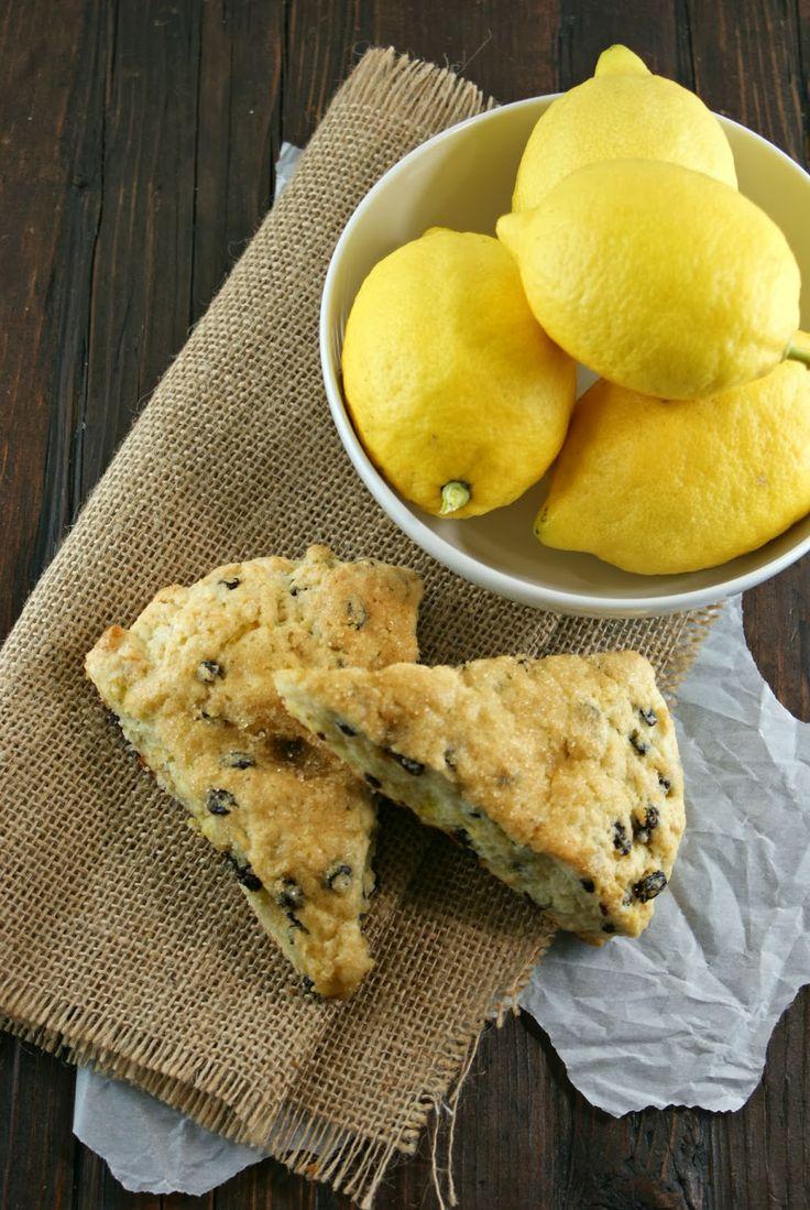 Lemon Currant Cream Scones | Sweet Thing | Pinterest