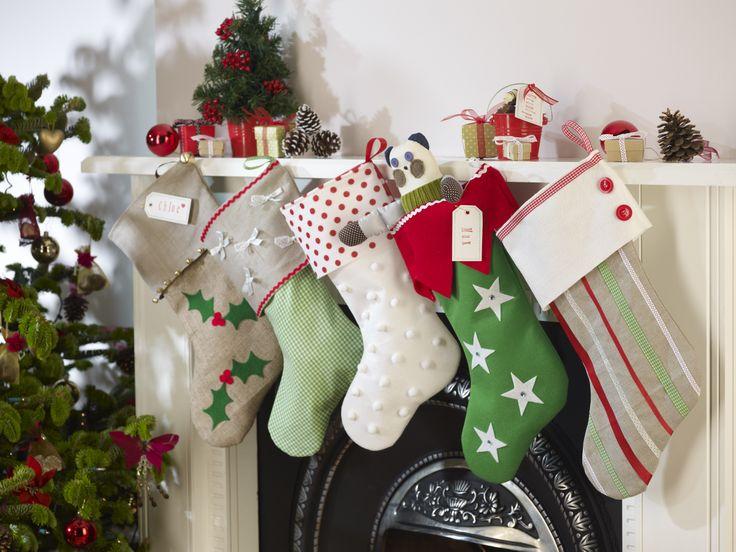 Handmade Christmas Stockings Holidays Pinterest