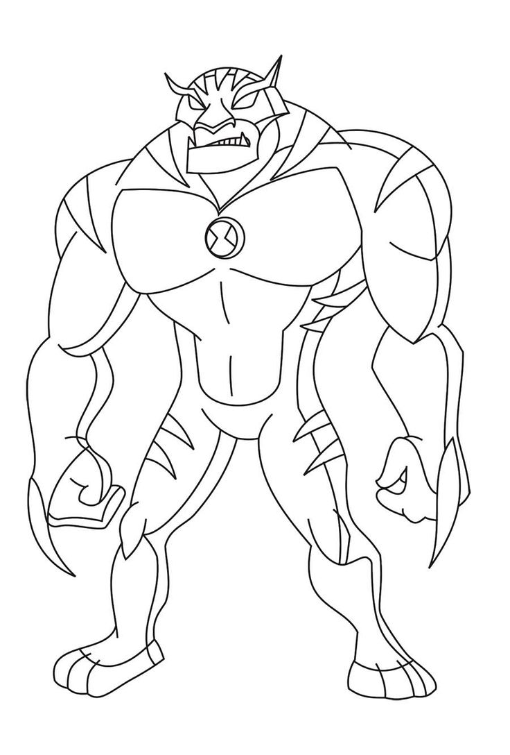 Rath Alien Change Ben Ten Coloring Page