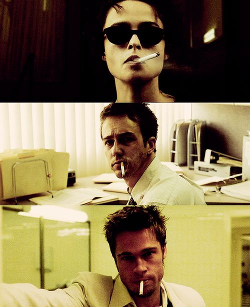 I wanted Tyler. Tyler wanted Marla and Marla wanted me.