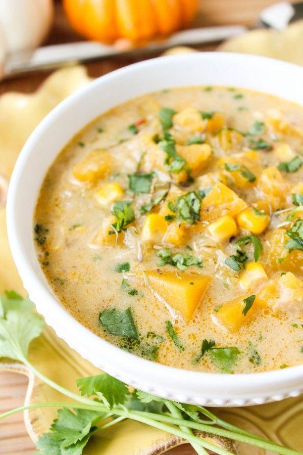 the food charlatan-pumpkin and chipotle corn chowder