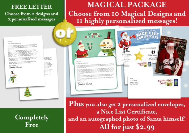 from Santa | Personalized, printable Santa Letters direct from Santa ...