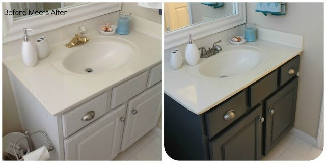 meets after bathroom vanity makeover with annie sloan chalk paint