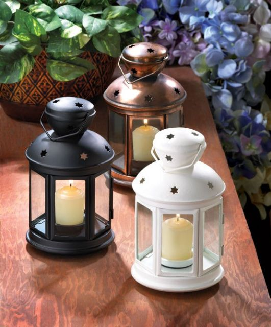 Pin by cheryl martell on wedding ideas pinterest for Cheap table lanterns for weddings