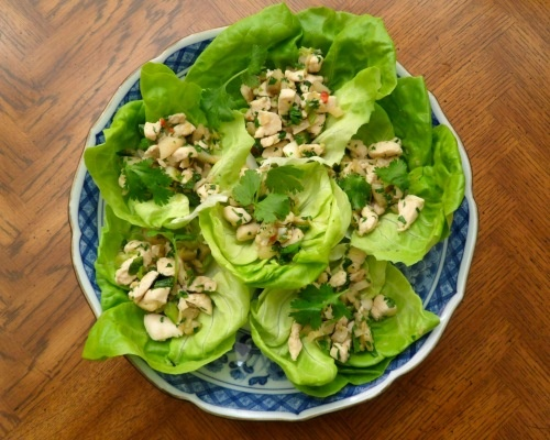 Chicken Lettuce Cups, for dinner serve with brown rice or peanut rice ...
