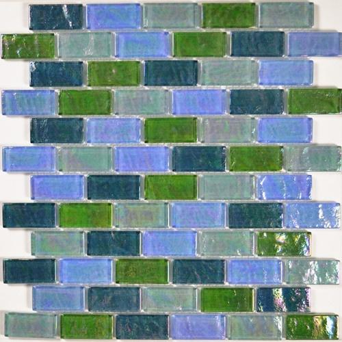 glass tile mkgc48g2 blue green brick blend kitchen