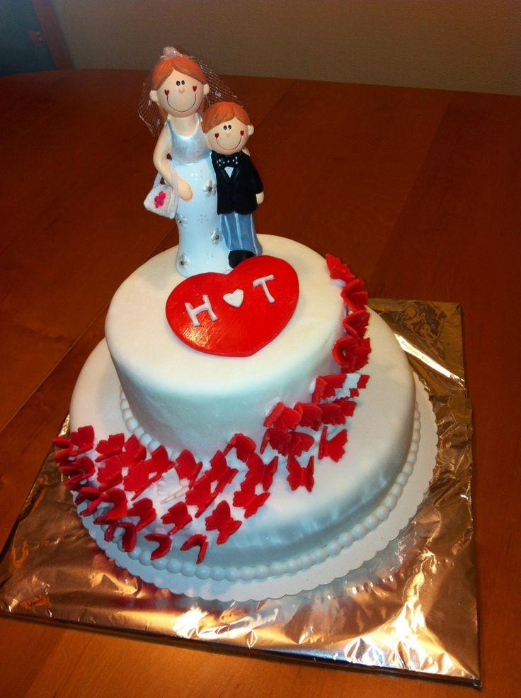 Hochzeit Torte Wedding fondant cake  Torten Fondant Cake  Pinterest