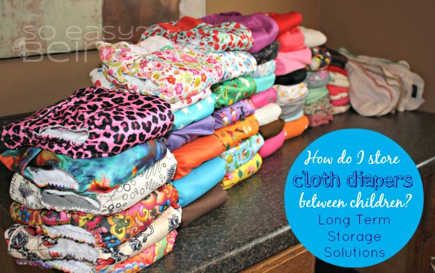 Storing Cloth Diapers Long-Term: What to do with #clothdiapers between