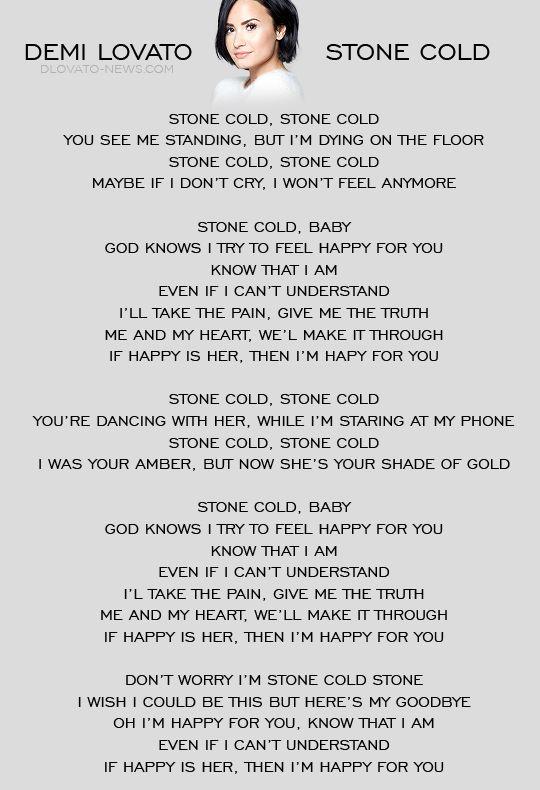 Stone Cold Demi Lovato Music Lyrics Good