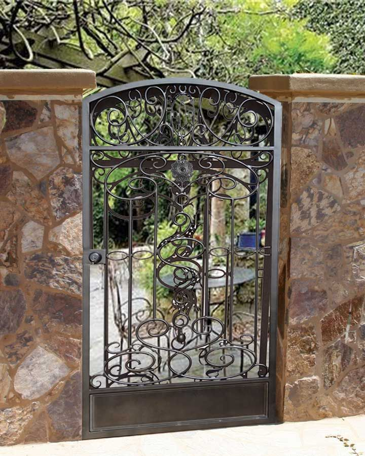 wrought iron garden gate through the garden gate pinterest