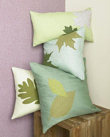 Leaf Pillows