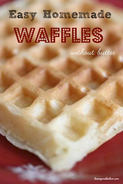 Easy Homemade Waffles, Homemade Waffle Recipe, Homemade Waffle Mix